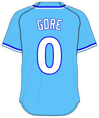 0 Terrance Gore Powder Blue Jersey Decal / Sticker