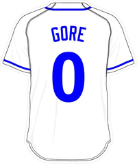 0 Terrance Gore White Jersey Decal / Sticker