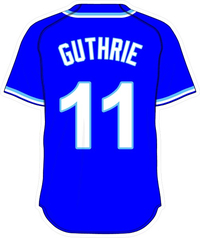 11 Jeremy Guthrie Royal Blue Jersey Decal / Sticker