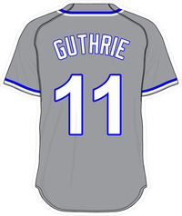 11 Jeremy Guthrie Gray Jersey Decal / Sticker