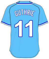 11 Jeremy Guthrie Powder Blue Jersey Decal / Sticker