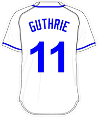 11 Jeremy Guthrie White Jersey Decal / Sticker