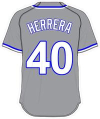 40 Kelvin Herrera Gray Jersey Decal / Sticker