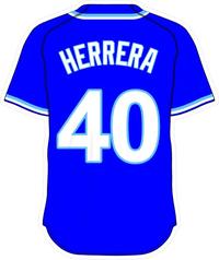 40 Kelvin Herrera Royal Blue Jersey Decal / Sticker