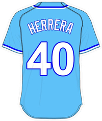 40 Kelvin Herrera Powder Blue Jersey Decal / Sticker