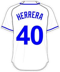 40 Kelvin Herrera White Jersey Decal / Sticker