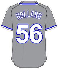 56 Greg Holland Gray Jersey Decal / Sticker