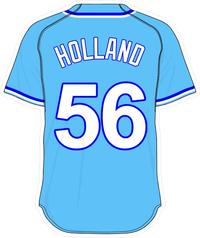 56 Greg Holland Powder Blue Jersey Decal / Sticker