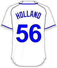 56 Greg Holland White Jersey Decal / Sticker
