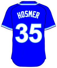 35 Eric Hosmer Royal Blue Jersey Decal / Sticker