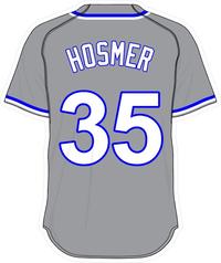 35 Eric Hosmer Gray Jersey Decal / Sticker