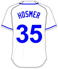 35 Eric Hosmer White Jersey Decal / Sticker