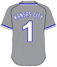 1 Kansas City Gray Jersey Decal / Sticker