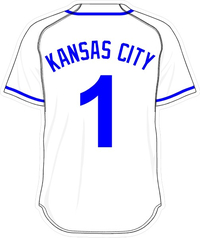 1 Kansas City White Jersey Decal / Sticker