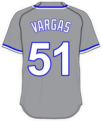 51 Jason Vargas Gray Jersey Decal / Sticker
