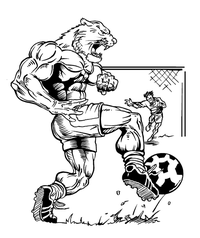 Soccer Cougars / Panthers Mascot Decal / Sticker 3