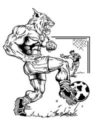 Soccer Wildcats Mascot Decal / Sticker 2