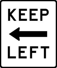 Keep Left Decal / Sticker 01
