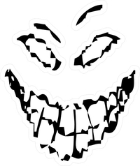Disturbed Face Decal / Sticker 03