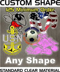 Custom Shape Decal / Sticker Quote (Clear Material)