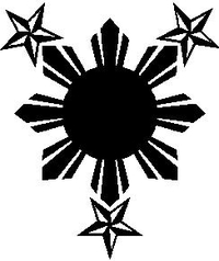 Filipino Sun with Stars Decal / Sticker