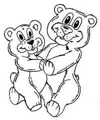 Hugging Bears Mascot Decal / Sticker