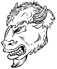 Buffalo Head Mascot Decal / Sticker hd4