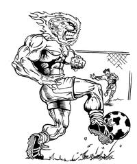 Soccer Comets Mascot Decal / Sticker 4