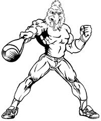 Baseball Gamecocks Mascot Decal / Sticker 6