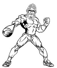 Baseball Knights Mascot Decal / Sticker 5