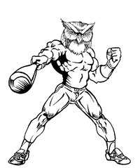 Baseball Owls Mascot Decal / Sticker 3