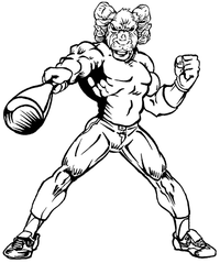 Baseball Rams Mascot Decal / Sticker 3