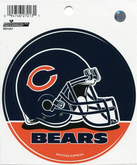 Chicago Bears Football Helmet Round Decal / Sticker