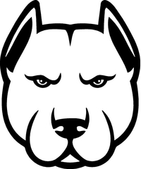 Pitbull Decal / Sticker 08