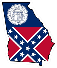 Georgia Outline State Flag Decal / Sticker 05
