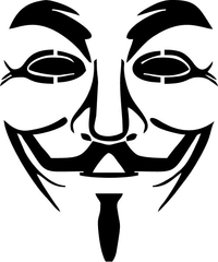 V For Vendetta Anonymous Decal / Sticker 05