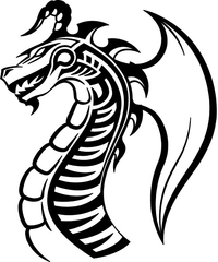 Dragon Decal / Sticker 14