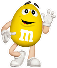 Yellow M&M Decal / Sticker 42
