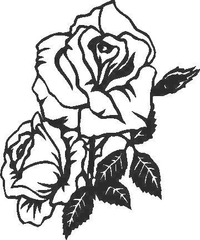 Rose Decal / Sticker 06