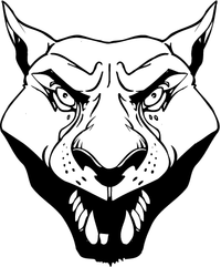 Cougars / Panthers Mascot Decal / Sticker