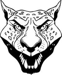 Jaguars Head Mascot Decal / Sticker