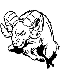 Rams Mascot Decal / Sticker