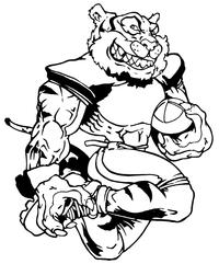 Tigers Football Mascot Decal / Sticker 08