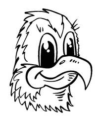 Eagles Mascot Decal / Sticker 2