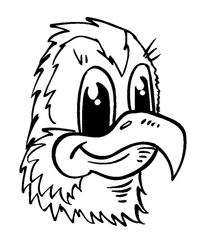 Hawks / Falcons Mascot Decal / Sticker 1