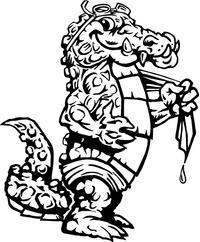 Swimming Gators Mascot Decal / Sticker