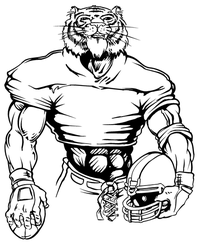 Football Tigers Mascot Decal / Sticker 7