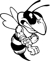 CUSTOM BEES MASCOT DECALS AND BEES MASCOT STICKERS