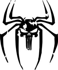 Spider Punisher Decal / Sticker 01
