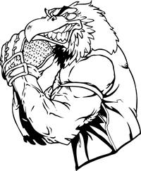 Baseball Pitcher Eagles Mascot Decal / Sticker